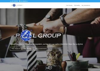 Webová prezentace P4L Group