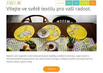 Zooza.me – Prezentační webové stránky s designovým textilem