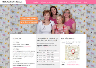 Dětský lékař Brno – webová prezentace