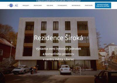 Rezidence Široká – webová prezentace